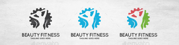 Beauty Fitness Logo Template