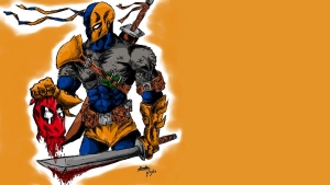 Death Stroke with Mask Wallpaper