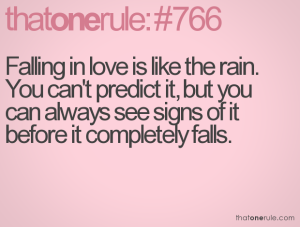 Falling In love Sign