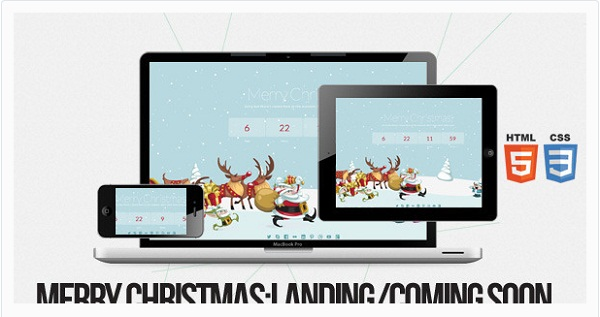Merry Christmas - Illustrated - Animated LESS Theme