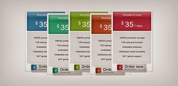 Pricing Box Table Psd