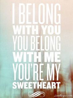 Belong With You Song Quote