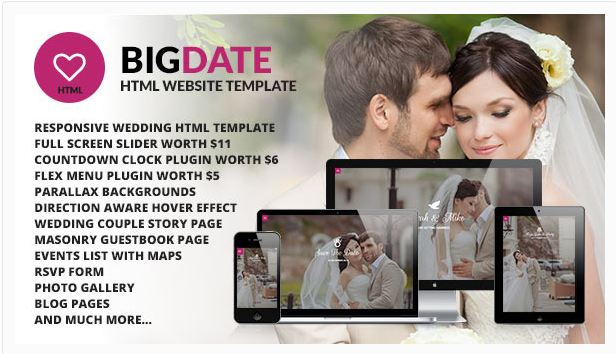 Big Date HTML Website Template