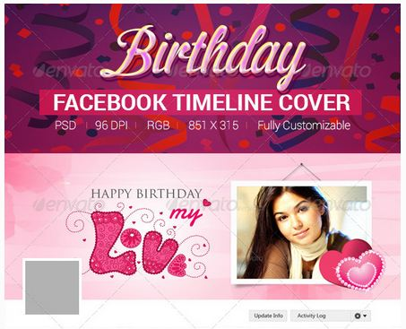 Birthday Banners  Facebook Timeline Cover