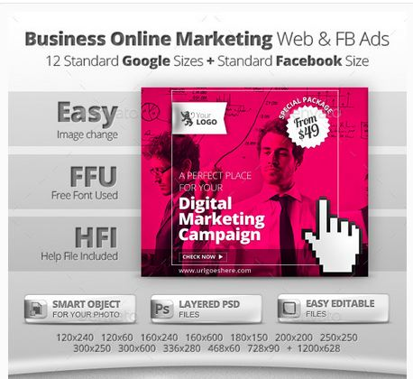 Business Online Marketing Web & Facebook Banners