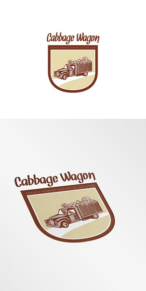 Cabbage Wagon Organic Produce Logo