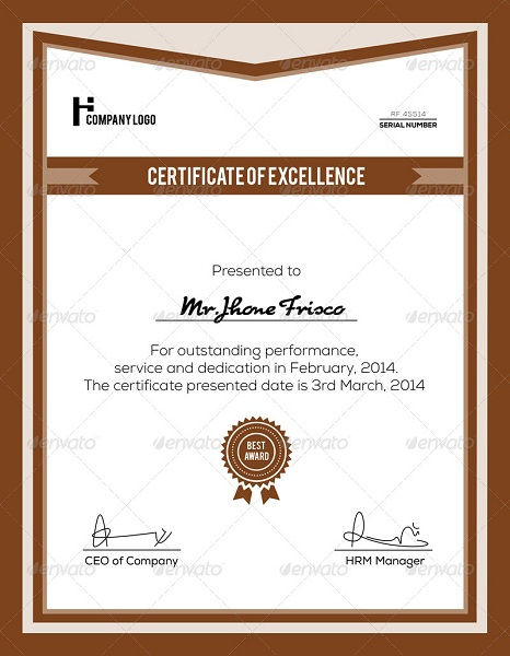 15 Best Certificate Psd Templates – Blogoftheworld