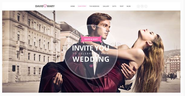 David  Marry Responsive wedding template