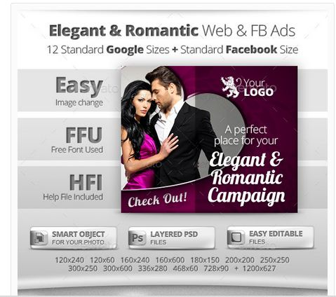Elegant & Romantic Web & Facebook Banners