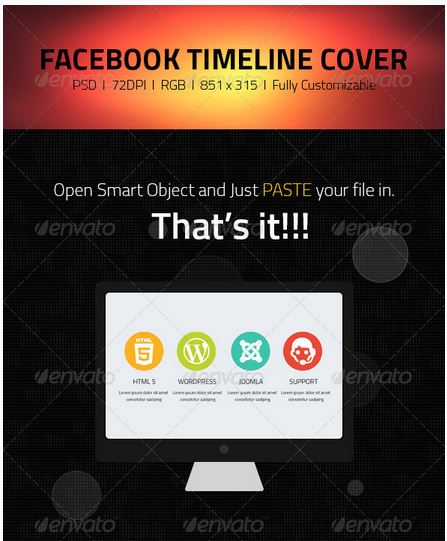 Facebook Timeline Cover  Web IT Companies