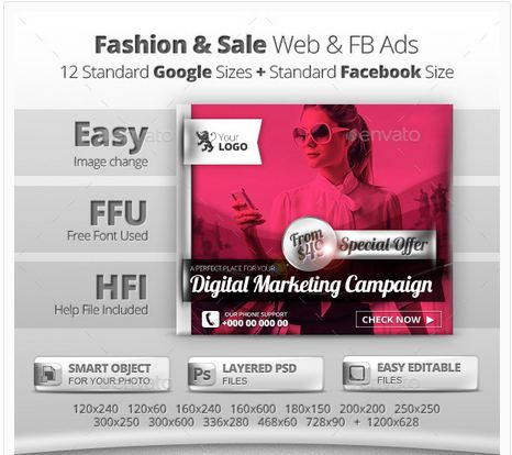 Fashion & Sale Web & Facebook Banners