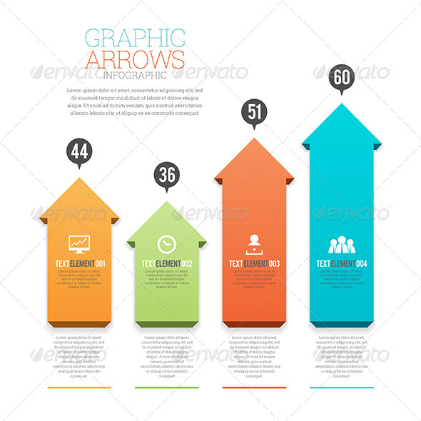GRAPHIC ARROWS INFOGRAPHIC