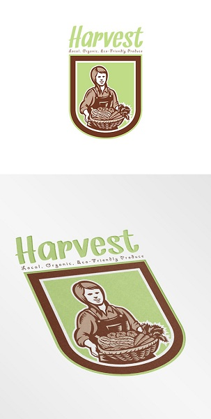 Harvest Local Organic Produce Logo