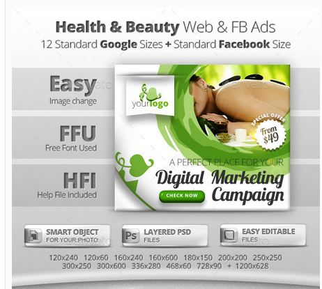 Health & Beauty Web & Facebook Banners