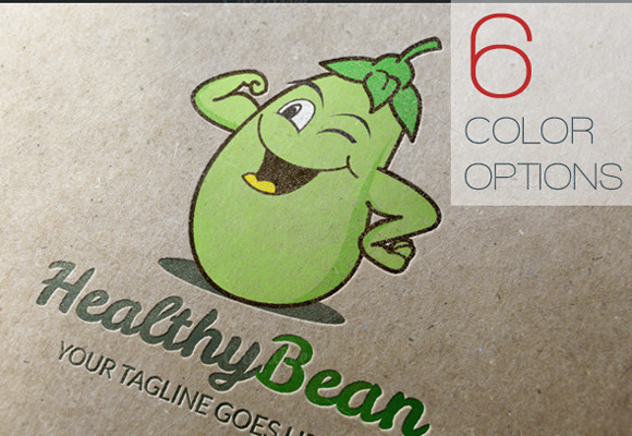 Healthy Bean Logo Template