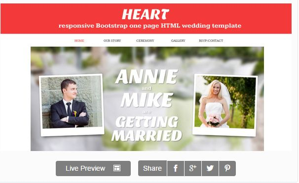http://themeforest.net/item/heart-one-page-wedding-invitation-template/4120254