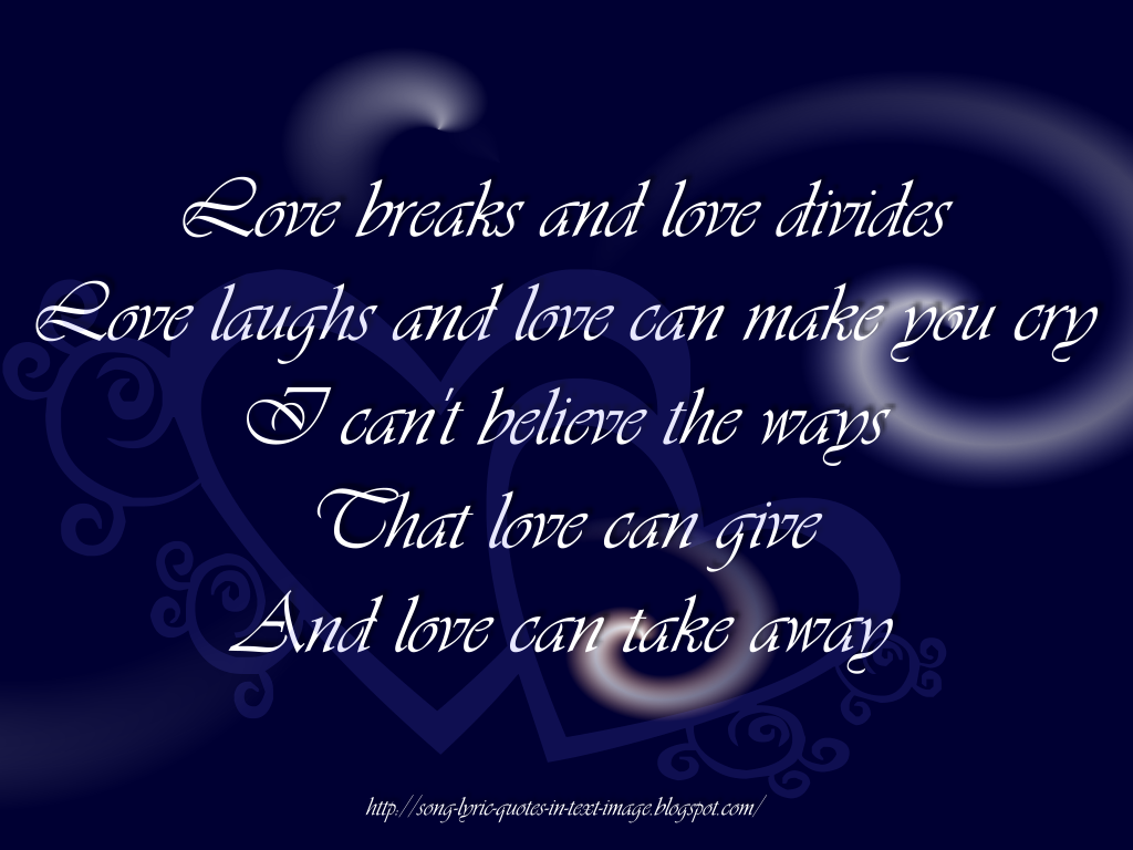 Love Can Do Quote