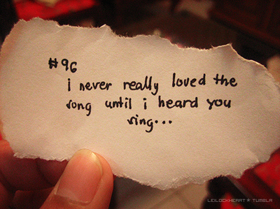 Love Song Quote