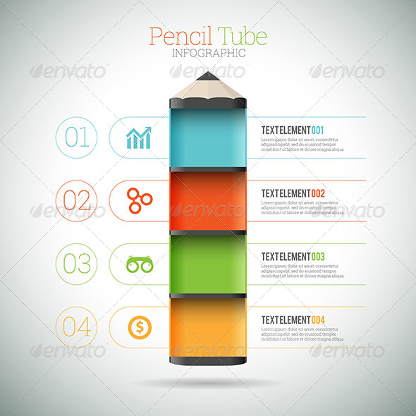 PENCIL TUBE INFOGRAPHIC