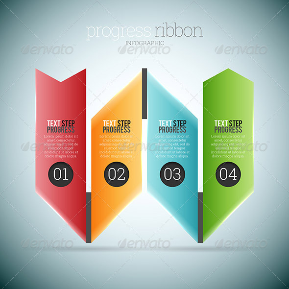 PROGRESS RIBBON INFOGRAPHIC