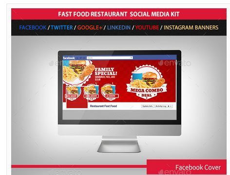 Restaurant Fast Food Web Social Media Kit