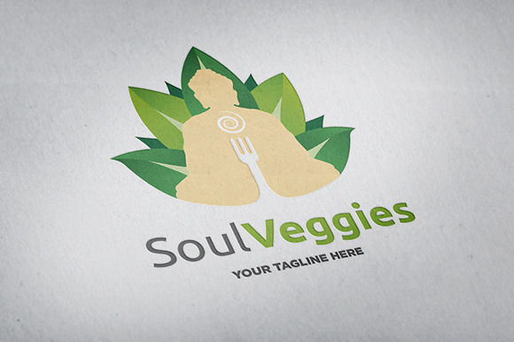Soul Veggies Logo Template