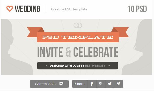 Wedding - Creative PSD Template