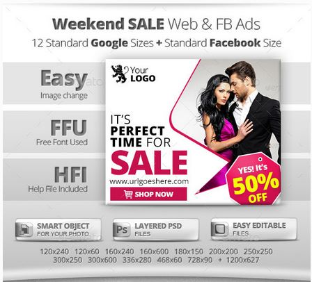 Weekend Sale Web & FB Banners Ads