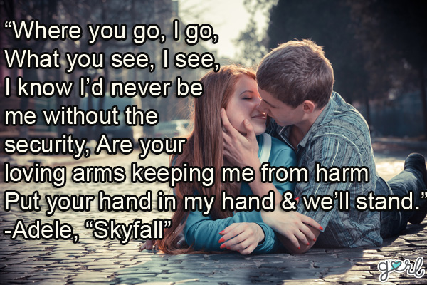 Where You Go Song Quote