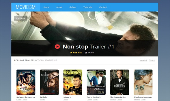 10. movieism free movie blogger template