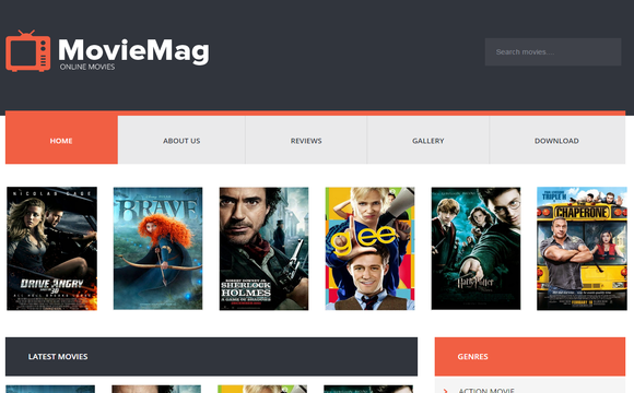 13. Movie Mag Blogger Template