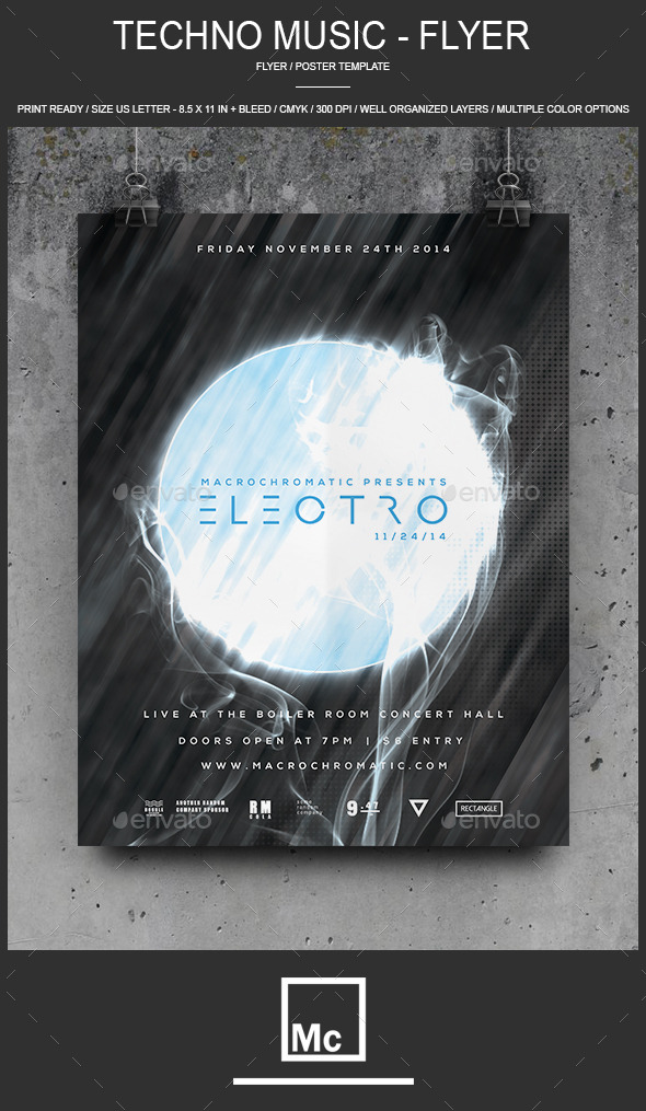 13. Techno Music - Flyer_Poster