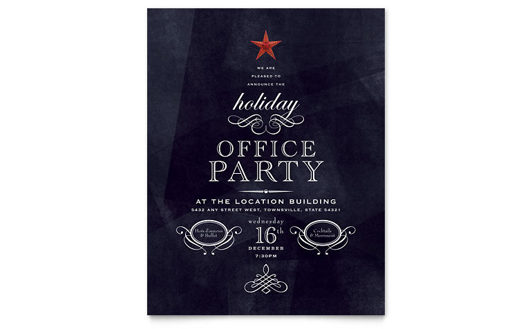 14. office holiday party flyer