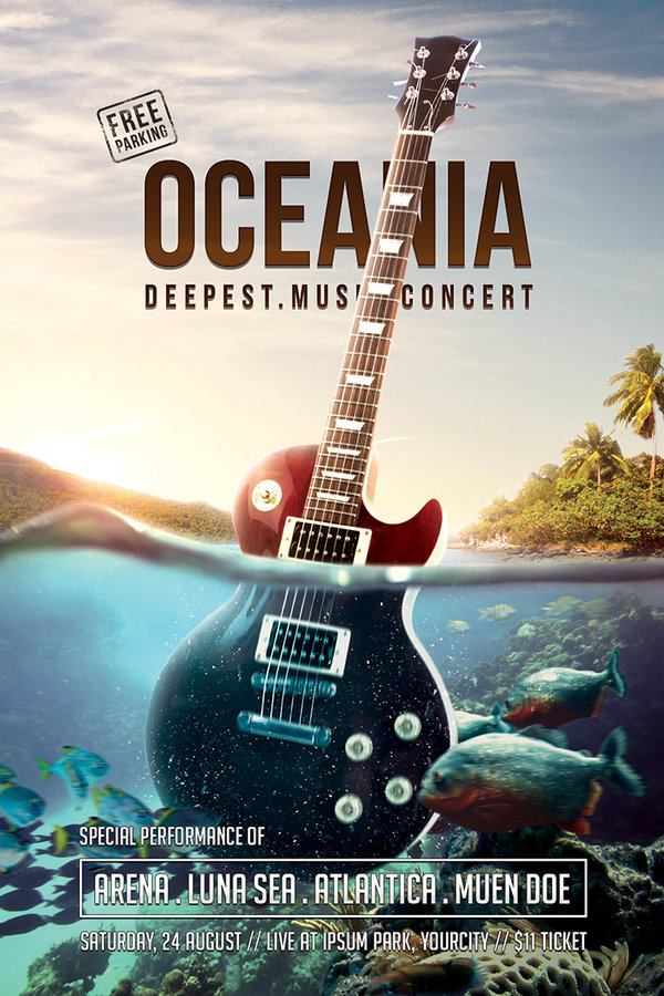 17. oceania_music_concert_flyer_psd_template