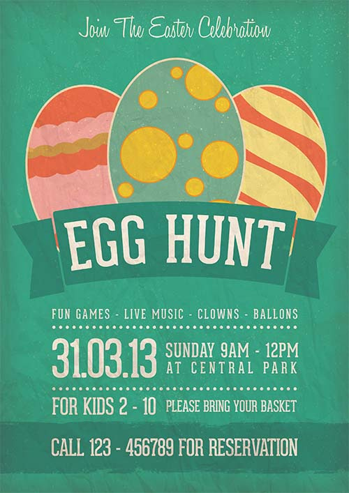 2. Egg Hunt Easter Celebration Flyer Template