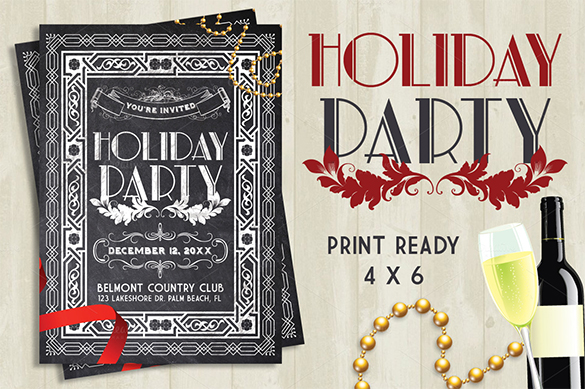 6. ChalkBoard-Holiday-Party-Flyer