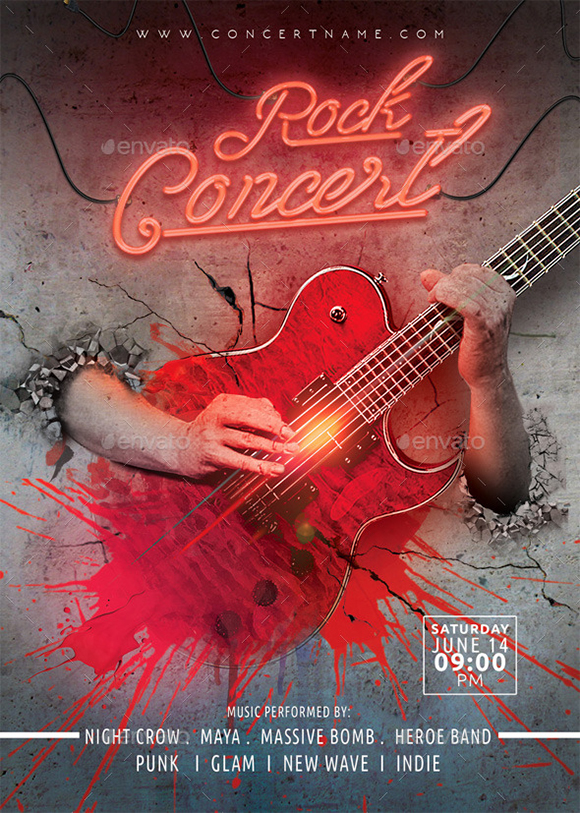 9. Awsome-Rock-Concert-Flyer-Template